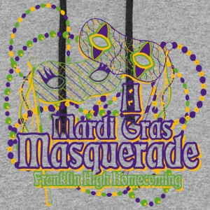 A Mardi Gras Masquerade Franklin High Homecoming - Colorblock Hoodie