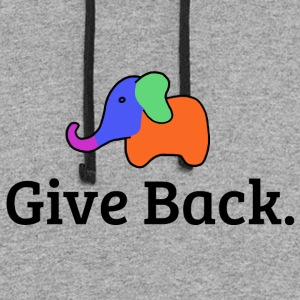 Give Back elephant - Colorblock Hoodie