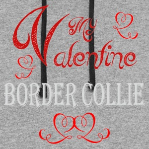 A romantic Valentine with my Border Collie - Colorblock Hoodie
