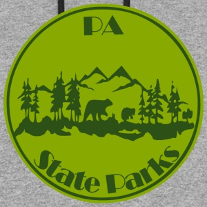 PA State Parks Bear Green - Colorblock Hoodie
