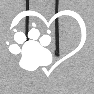 PAW PRINTS ON MY HEART SHIRT - Colorblock Hoodie