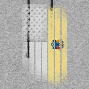 USA Vintage New Jersey State Flag - Colorblock Hoodie