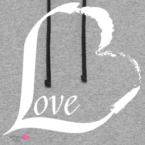 Love in white - Colorblock Hoodie