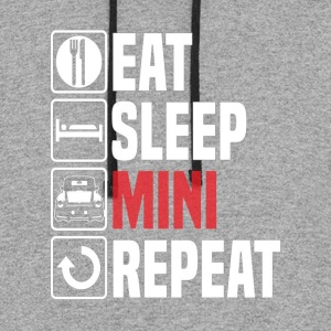Eat Sleep Mini Funny - Colorblock Hoodie