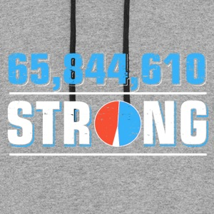 65,844,610 popular vote strong - Colorblock Hoodie