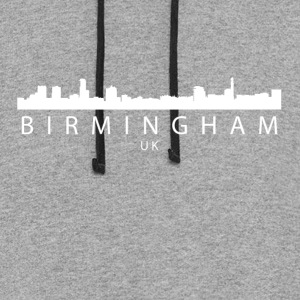 Birmingham England UK Skyline - Colorblock Hoodie