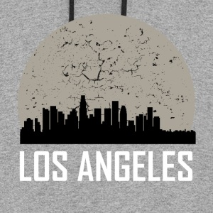 Los Angeles Full Moon Skyline - Colorblock Hoodie