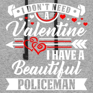 Valentineday - BEAUTIFUL POLICEMAN T-Shirt - Colorblock Hoodie