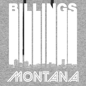 Retro Billings Montana Skyline - Colorblock Hoodie