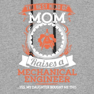 Proud Mechanical Engineer Mom Shirt - Colorblock Hoodie