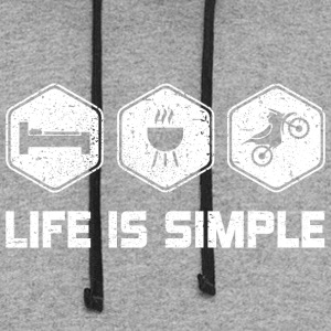 LIFE IS SIMPLE - MOTORCROSS - Colorblock Hoodie