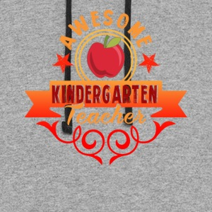 AWESOME KINDERGARTEN TEACHER SHIRTS - Colorblock Hoodie