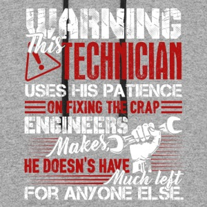 Warning This Technician Tee Shirt - Colorblock Hoodie