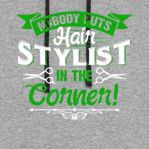 HAIR STYLIST NOBODY CORNER SHIRT - Colorblock Hoodie