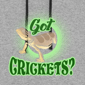 BEARDED DRAGON GOT CRICKETS SHIRTS - Colorblock Hoodie