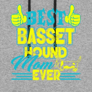 BEST BASSET HOUND MOM EVER SHIRTS - Colorblock Hoodie