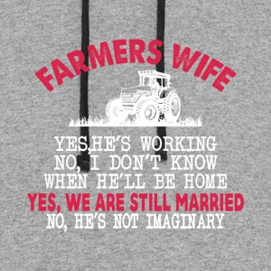 Farmer Wife T Shirt - Colorblock Hoodie