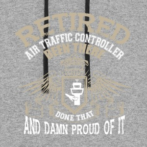 Retired Air Traffic Controller T Shirt - Colorblock Hoodie