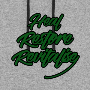 Heal, Restore, Revitalise! - Colorblock Hoodie