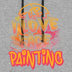 I LOVE FACE PAINTING SHIRT - Colorblock Hoodie