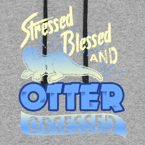 Stressed Blessed And Otter Obsessed Tshirt - Colorblock Hoodie