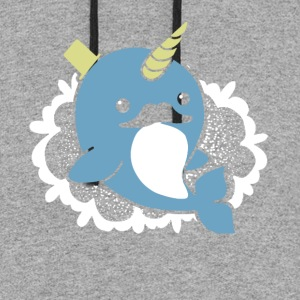 NARWHAL STACHE SHIRT - Colorblock Hoodie