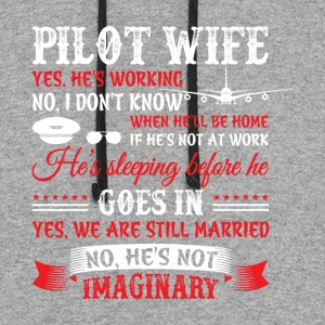 Pilot Wife T Shirt - Colorblock Hoodie