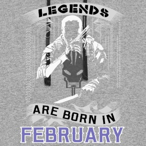 Legends Are Born In February. Perfect Gift For him - Colorblock Hoodie