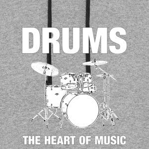 Drums The Heart Of Music - Colorblock Hoodie