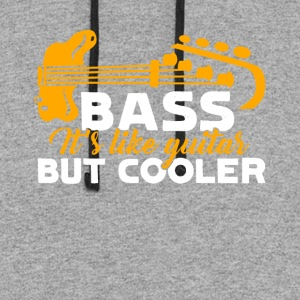 Bass Guitar Shirt - Colorblock Hoodie