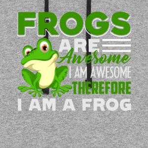 Frog Are Awesome Shirt - Colorblock Hoodie