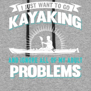 I Just Want To Go Kayaking T Shirt - Colorblock Hoodie