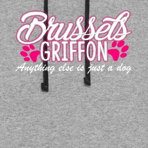 BRUSSELS GRIFFON JUST A DOG SHIRT - Colorblock Hoodie