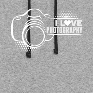 I LOVE PHOTOGRAPHY SHIRT - Colorblock Hoodie