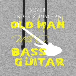 Old Man With A Bass Guitar T Shirt - Colorblock Hoodie