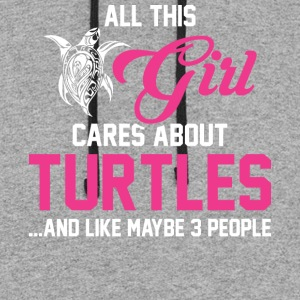 All This Girl Cares About Turtles T Shirt - Colorblock Hoodie