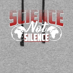 Science Not Silence Tshirt March For Science shirt - Colorblock Hoodie