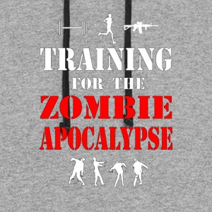 Training for the Zombie Apocalypse Shirt - Colorblock Hoodie