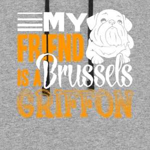 BRUSSELS GRIFFON FRIEND SHIRT - Colorblock Hoodie