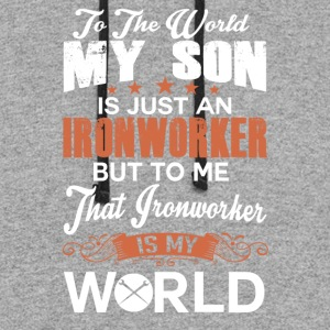 To The World My Son Is Just An Ironworker - Colorblock Hoodie