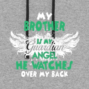 My Brother Is My Guardian Angel T Shirt - Colorblock Hoodie