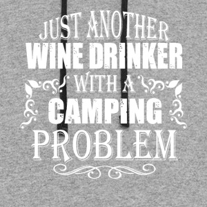 Just Another Wine Drinker With A Camping T Shirt - Colorblock Hoodie