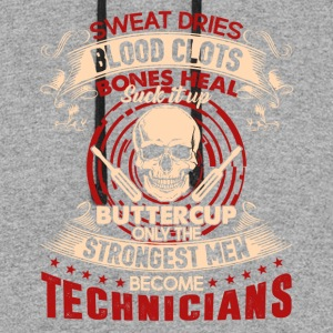 Only The Strongest Men Become Technician Shirt - Colorblock Hoodie