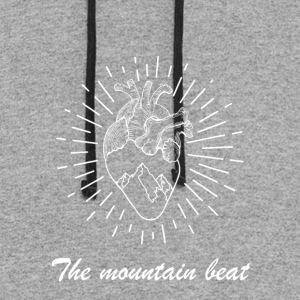 Adventure - The Mountain Beat T-shirts & Products - Colorblock Hoodie