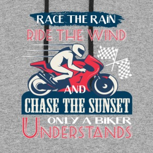 Chase The Sunset Only A Biker Understands T Shirt - Colorblock Hoodie