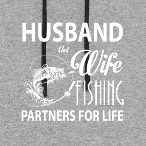Husband And Wife Fishing T Shirt - Colorblock Hoodie