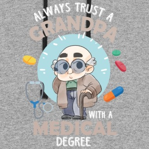 Grandpa With A Medical Degree T Shirt - Colorblock Hoodie