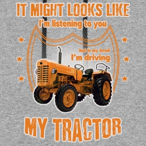 It might looks like I'm driving my TRACTOR orange - Colorblock Hoodie