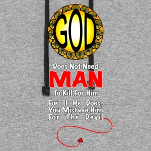 God Does Not Need Man To Kill - Colorblock Hoodie