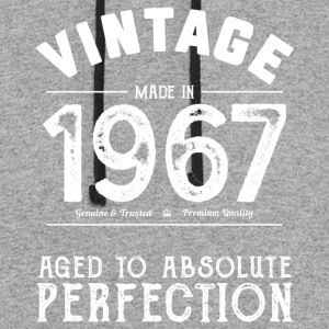 Funny 50th Birthday Present: Vintage 1967 T-Shirt - Colorblock Hoodie